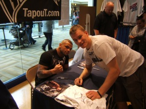 Me and Brazilian MMA Fighter Thiago Alves